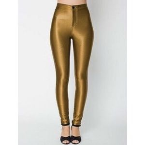 American Apparel Disco Pant in Gold